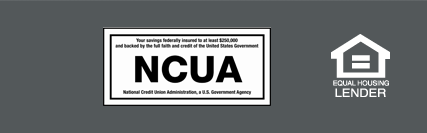 NCUA and Equal Housing Lender Logo